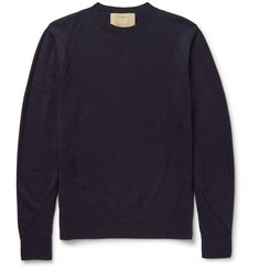 Wooyoungmi Panelled Textured-Wool Sweater