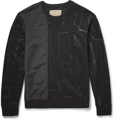Wooyoungmi - Silk-Panelled Cotton Sweatshirt