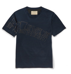 Wooyoungmi Slim-Fit Chalk-Print Cotton-Jersey T-Shirt