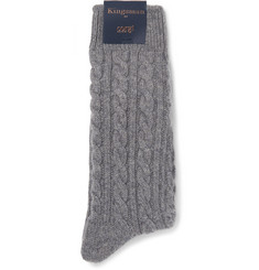 Kingsman Cable-Knit Cashmere Socks