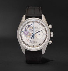 Zenith - El Primero Chronomaster Stainless Steel and Alligator Watch