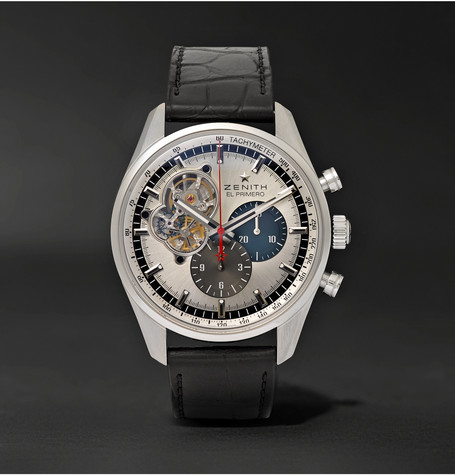 ZenithEl Primero Chronomaster 1969 42mm Stainless Steel and Alligator Watch bd74d25255a