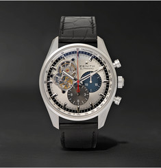 Zenith - El Primero Chronomaster 1969 Stainless Steel and Alligator Watch