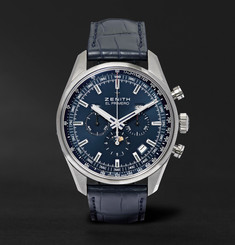 Zenith El Primero 410 Stainless Steel and Alligator Watch