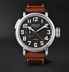 Zenith - Pilot Type 20 GMT Stainless Steel and Leather Watch