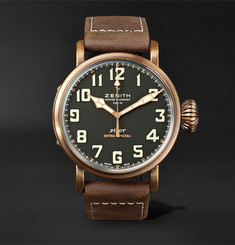 Zenith - Pilot Type 20 Extra Special 45mm Bronze and Nubuck Watch