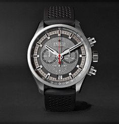 Zenith - El Primero Sport Stainless Steel and Rubber Watch