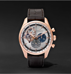 Zenith El Primero Chronomaster 42mm 1969 Rose Gold and Alligator Watch