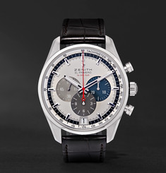 Zenith El Primero 42mm Stainless Steel and Alligator Watch