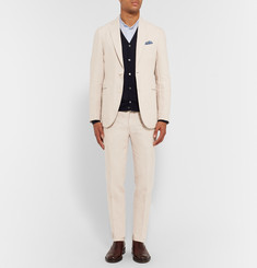 Boglioli Garment-Dyed Linen Suit Trousers