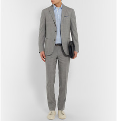Boglioli Grey Dover Slim-Fit Checked Wool Suit Trousers