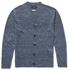 Beams Plus Slub Linen Cardigan