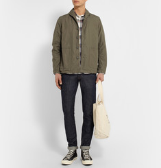 Beams Plus Slim-Fit Shawl-Collar Cotton-Ripstop Jacket