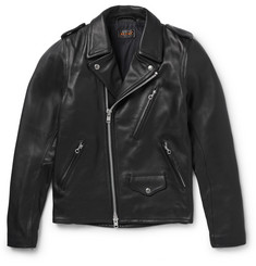 Beams Plus Slim-Fit Leather Biker Jacket