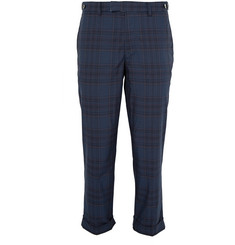 Beams Plus Cropped Checked Cotton-Blend Trousers