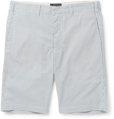 Beams Plus Slim-Fit Striped Seersucker Shorts