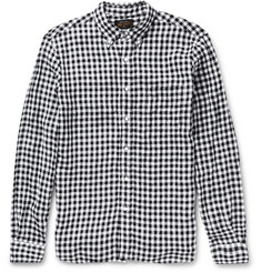 Beams Plus Gingham Button-Down Collar Linen Shirt