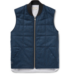 Maison Kitsuné Quilted Virgin Wool Gilet