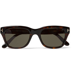 Tom Ford Snowden Square-Frame Tortoiseshell Acetate Sunglasses