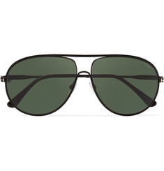 Tom Ford Cliff Aviator-Style Metal Polarised Sunglasses