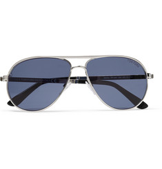 Tom Ford Marko Aviator-Style Metal and Acetate Sunglasses