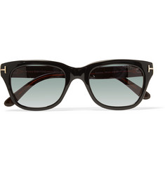 Tom Ford Leo Square-Frame Tortoiseshell Acetate Sunglasses