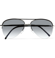 Cutler and Gross - Aviator-Style Leather and Metal Sunglasses