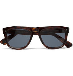 Cutler and Gross Square-Frame Tortoiseshell Acetate Sunglasses