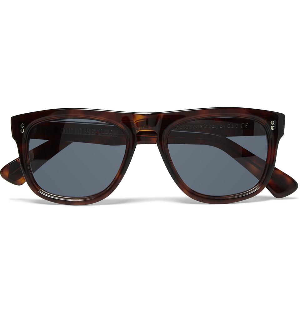 Square Frame Tortoiseshell Acetate Sunglasses Tortoiseshell