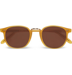 Cutler and Gross Round-Frame Metal-Trimmed Acetate Sunglasses