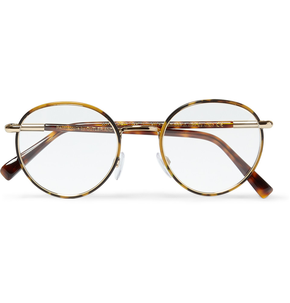Round Frame Tortoiseshell Acetate Optical Glasses Brown