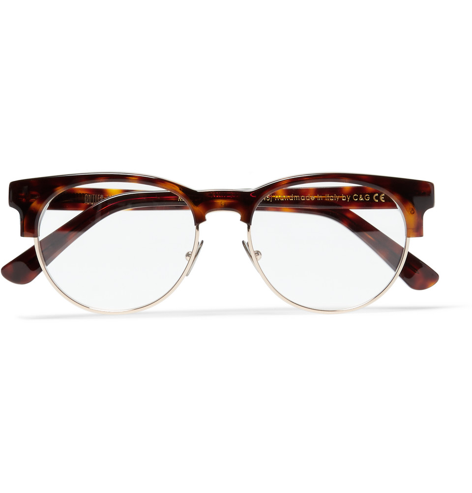 Tortoiseshell Acetate and Metal Optical Glasses Brown