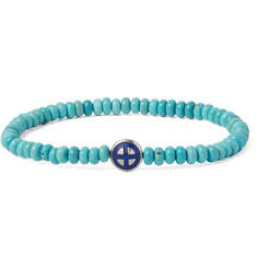 Luis Morais Sun Cross White Gold and Turquoise Bracelet