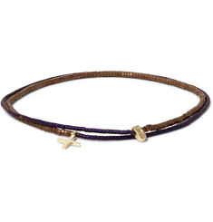 Luis Morais Gold and Glass Bead Double-Wrap Bracelet