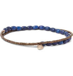 Luis Morais Amulet Gold and Glass Bead Double-Wrap Bracelet