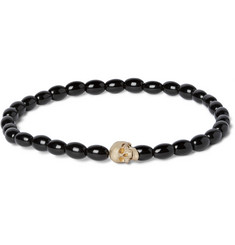 Luis Morais - Gold Skull and Glass Bead Bracelet