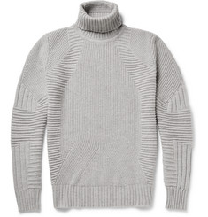 Belstaff Littlehurst Panelled Virgin Wool and Cashmere-Blend Rollneck Sweater