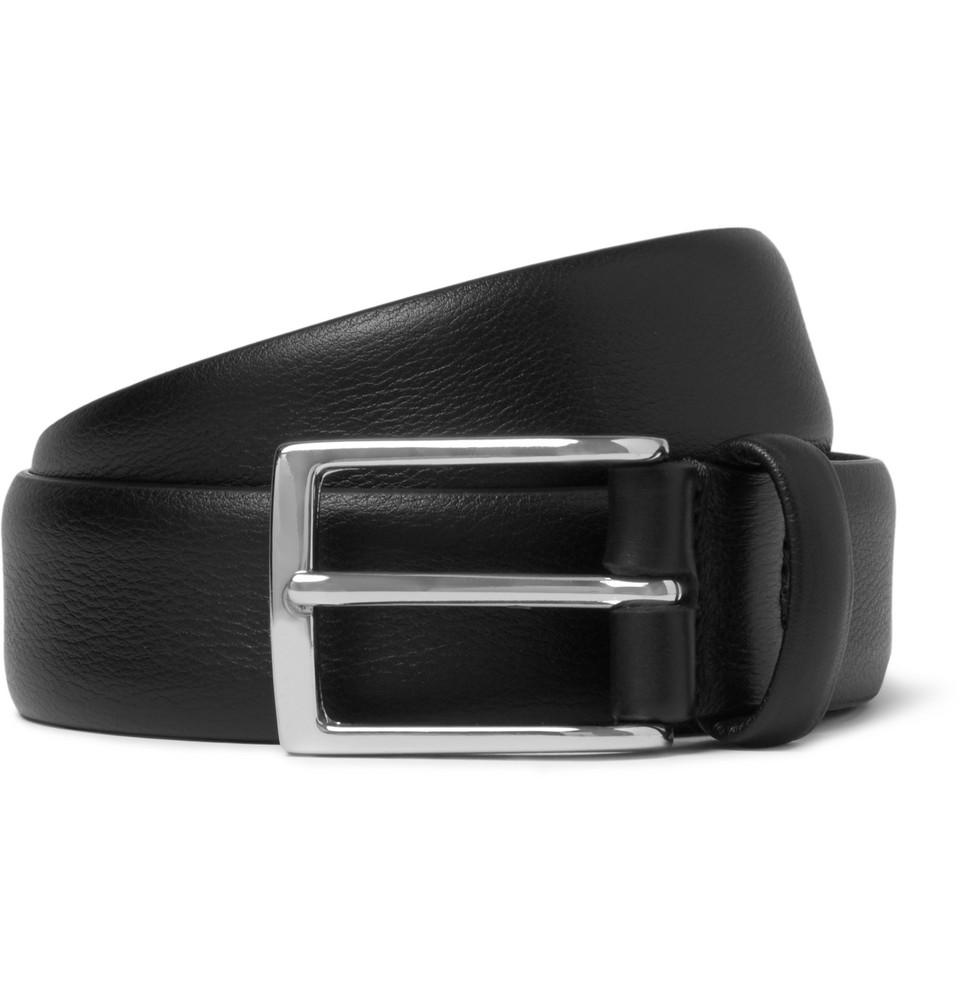 Anderson's 3cm Black Leather Belt