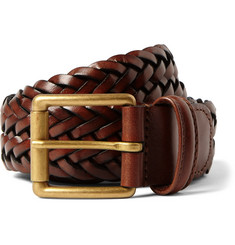 Anderson's - 3.5cm Brown Leather Belt