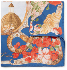 Rubinacci - Le Sirenuse Printed Silk-Twill Pocket Square