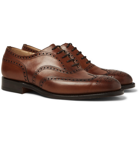 Chetwynd Leather Oxford Brogues - Brown