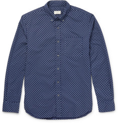 Club Monaco - Slim-Fit Button-Down Collar Printed Cotton Shirt