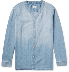Club Monaco Indigo-Washed Cotton-Chambray Overshirt