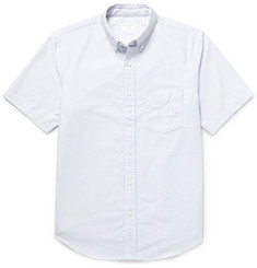 Club Monaco Slim-Fit Button-Down Collar Striped Cotton Oxford Shirt