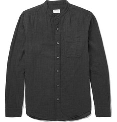 Club Monaco Grandad-Collar Cotton Shirt