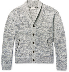 Club Monaco Shawl-Collar Marl Cotton Cardigan
