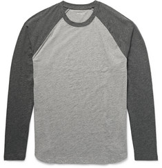 Club Monaco Two-Tone Slub Cotton-Jersey T-Shirt
