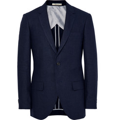 Club Monaco - Blue Grant Puppytooth Linen Suit Jacket