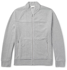 Club Monaco - Cotton-Blend Piqué Zip-Up Sweatshirt
