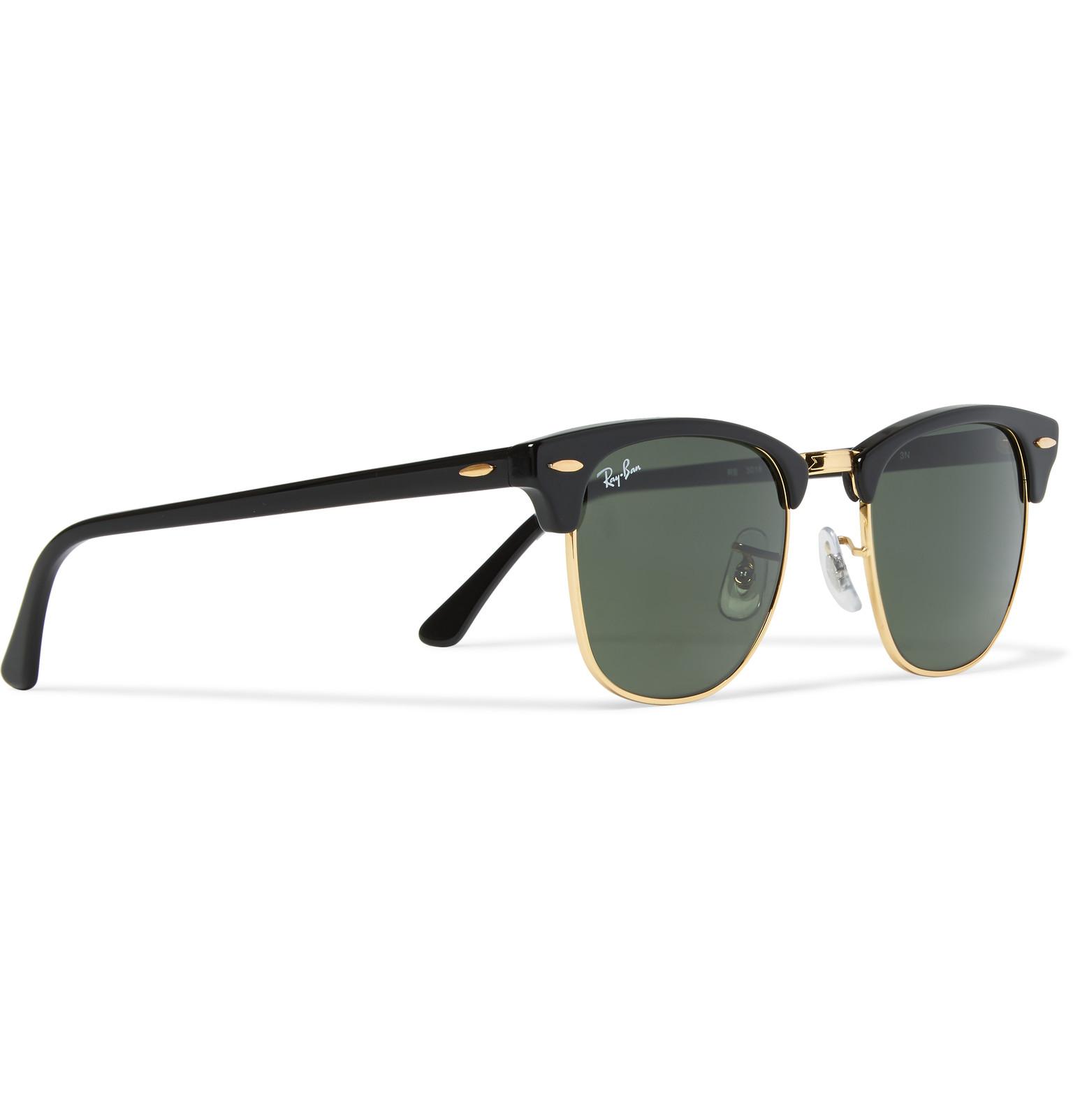 ecbc975edb2 Ray-Ban - Clubmaster Square-Frame Acetate and Gold-Tone Sunglasses